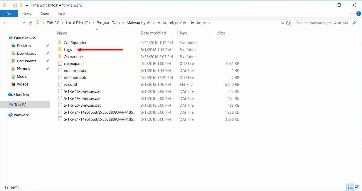 MBAM scan log directory – Kaseya Support Knowledgebase