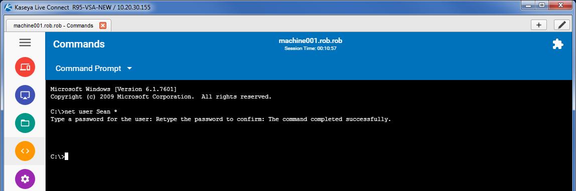 Unable to run command line utilities requiring user